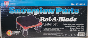 Rol-A-Blade Snow Plow Dolly Caster Set (3)