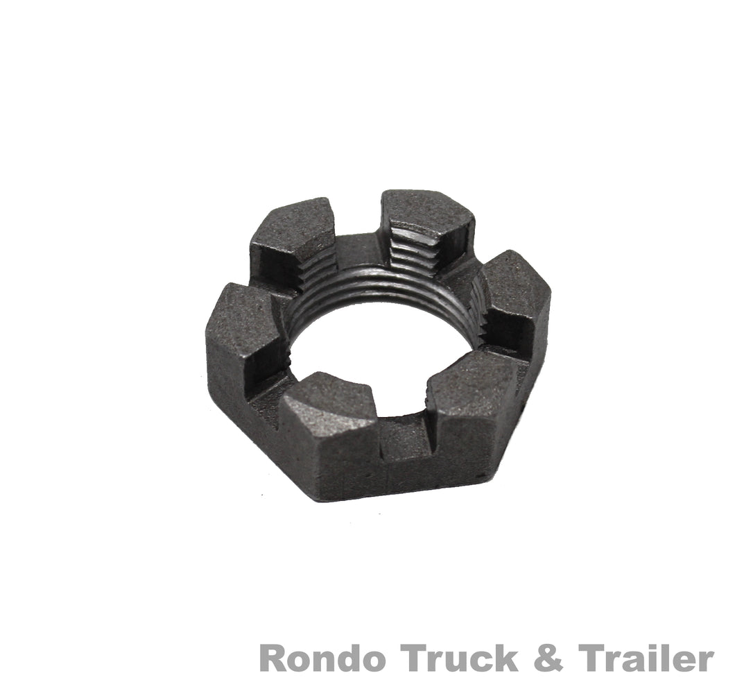 Trailer Axle Spindle Nut/Castle Nut - 1