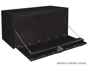 Buyers Products Underbody Steel Tool Box W/T-Latch Handle (Black)