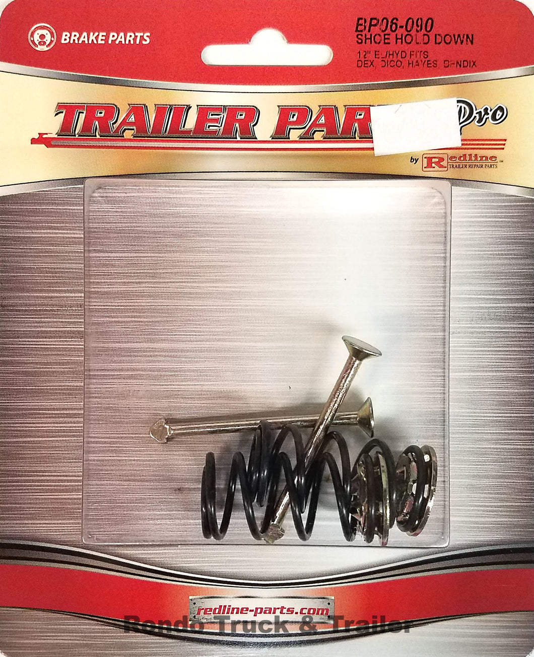Redline Trailer Parts Brake Shoe Hold Down Springs for 12