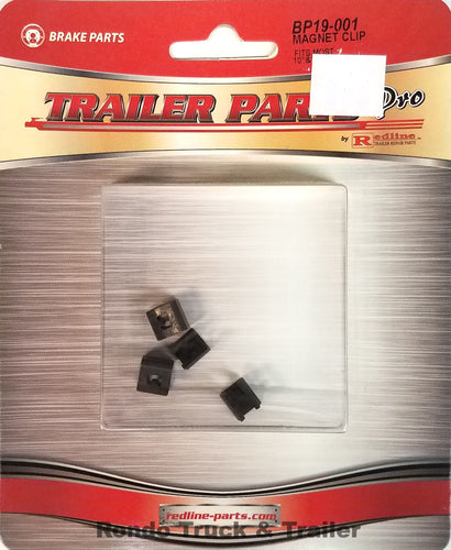 Redline Trailer Parts Brake Magnet Retainer Clips, Fits Most 10