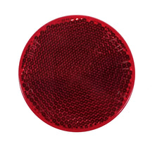 "Load image into Gallery viewer, Round Trailer Reflector, 2 3/8"" Diameter, Self-Adhesive, Red or Amber"