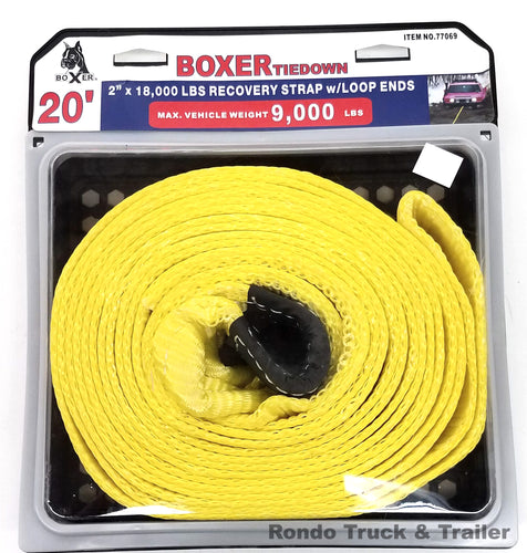 Boxer Tools 20' Tow Strap W/ Loop End 77069