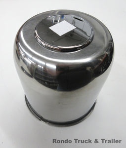 "Stainless Steel Trailer Wheel Center Cap, 4.25"" Pilot Hole 425EZ-SS"