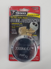 Load image into Gallery viewer, Hockey Puck Trailer Hasp Padlock - Fits All Trailer Hasps - THPXL