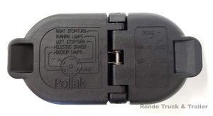 Pollak OEM Replacement 7 Way Round/4 Way Flat Trailer Wiring Plug