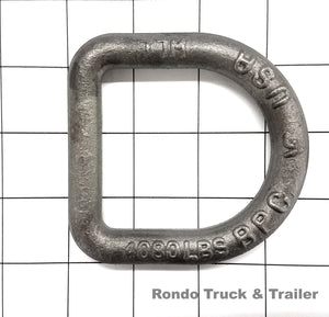 "Cargo Control D-Ring, 1/2"", Weld-On"