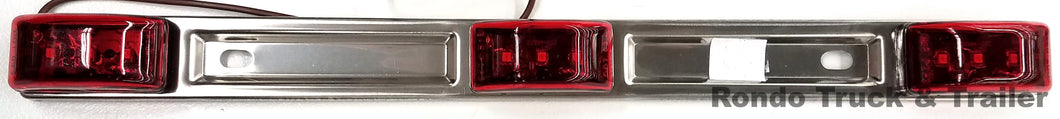 Trailer Stainless Steel Light ID Bar - Red LED - MCL-97RB