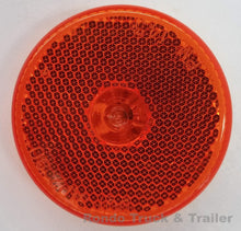 "Load image into Gallery viewer, Trailer Clearance Light Reflector - Amber Incandescent - 2.5"" Round - 143A"