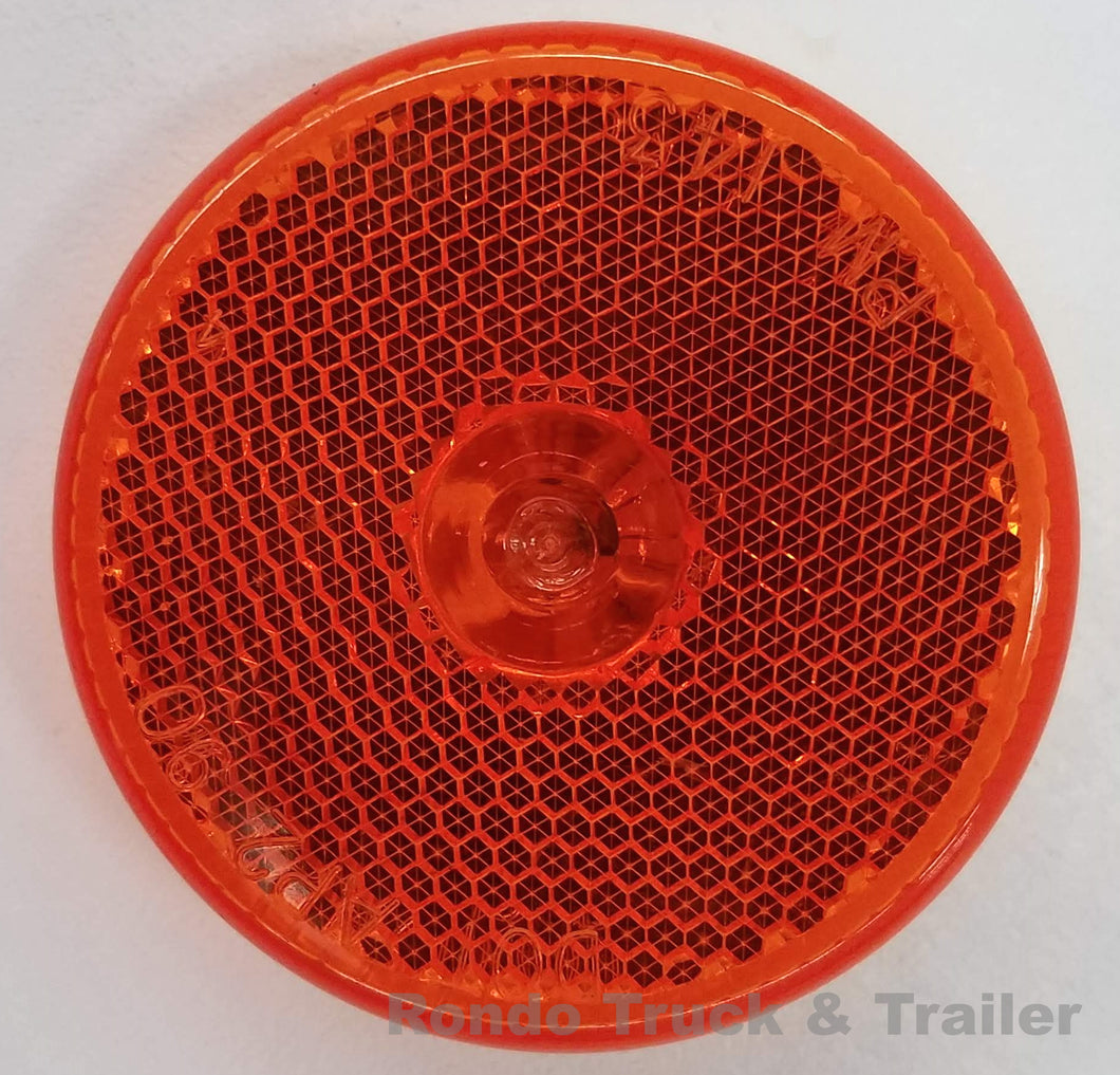 Trailer Clearance Light Reflector - Amber Incandescent - 2.5