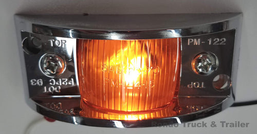 Armored Trailer Light W/ Chrome Molding - Incandescent - Amber or Red Lens 122XA/122XR