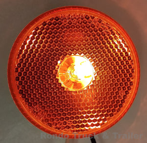"Trailer Clearance Light Reflector - Amber Incandescent - 2.5"" Round - 143A"