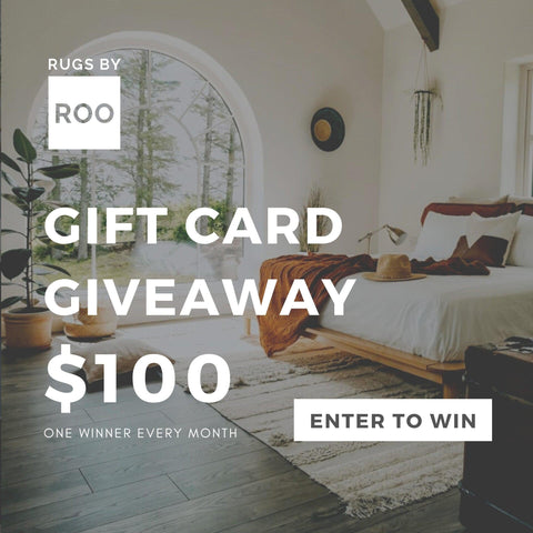 Rugs by Roo Monthly $100 Gift Card Giveaway