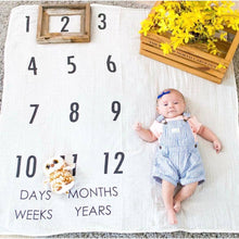 Load image into Gallery viewer, BATZkids Original Years Baby Monthly Milestone Blanket