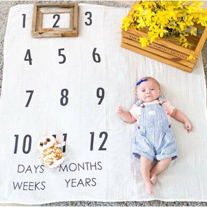BATZkids Original Years Baby Monthly Milestone Blanket