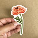 Single Rose Sticker by Bloomwolf Studio