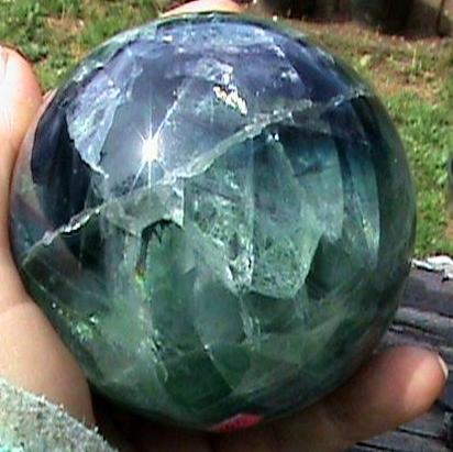 Mineral Collection, Rainbow Fluorite Sphere