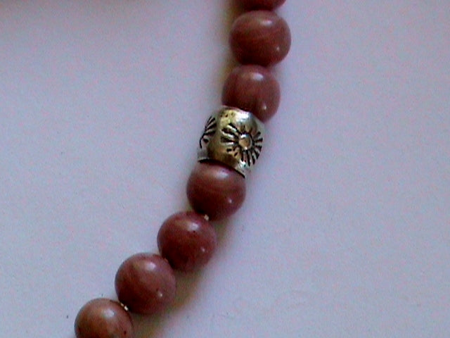 rhodochrosite  and rhodonite bracelet