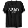 Image of Army K-pop Half Sleeve Black