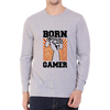 Image of Born Gamer -Full Sleeve Grey