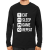 Image of Eat Sleep Game Repeat Full Sleeve Black