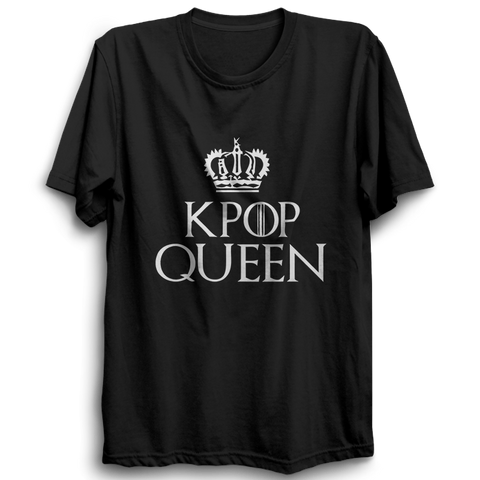 K-POP Queen Half Sleeve Black