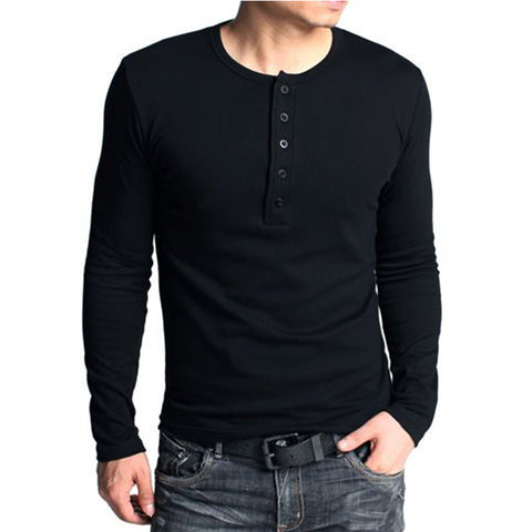 Men's Slim Fitted Long Sleeve T-shirt