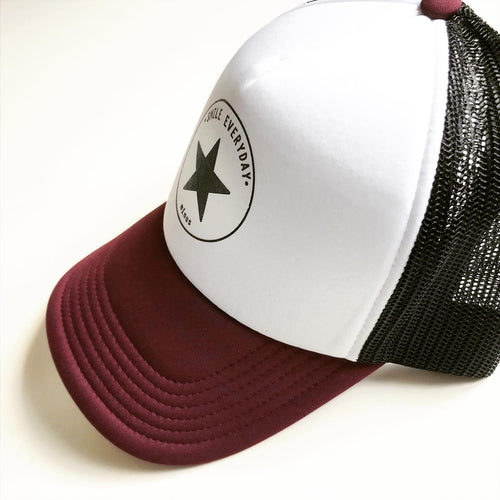 CASQUETTE SMILE EVERYDAY Bordeaux/Black /Blanche