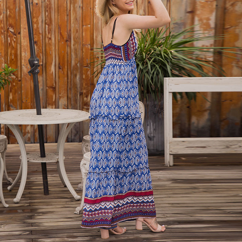 Stylish Ladies' Vacation Maxi Dress
