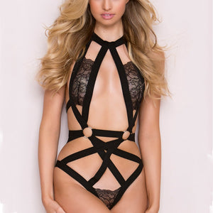 Three-Point Hollowed-Out Lace Sexy Lingerie