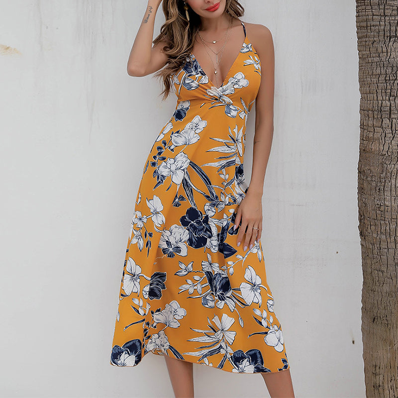 Casual Chiffon Floral Maxi Dress