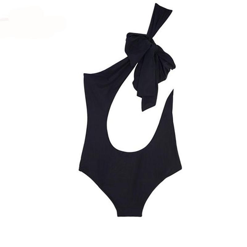 Elegant One-Shoulder One-Piece Swimsuit