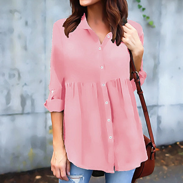 More Colors Woman Long Sleeve Casual Daily Blouse