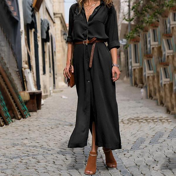 Fashionable Loose Long Sleeved Casual Dress