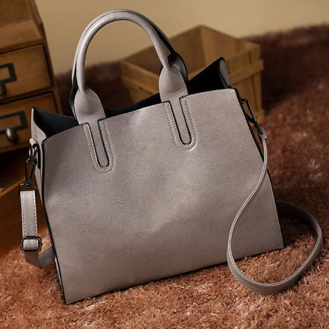 Simple Style PU Leather Lady Tote Bag