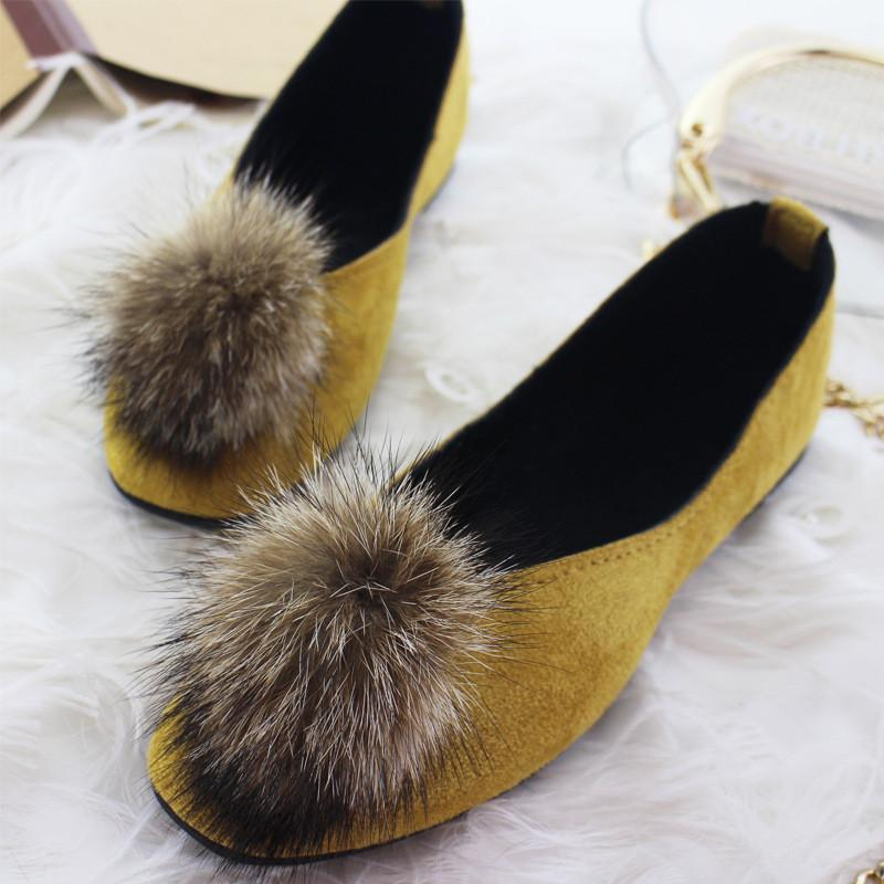 Fashion Suede Flat-Heel Plush Shoes