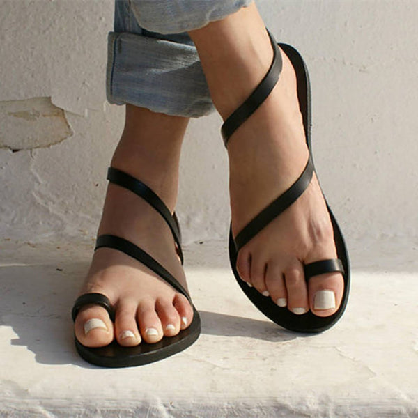 Large-Size Flat-Bottomed Sandals