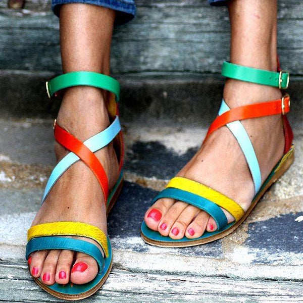 Fashion Hand-Painted Vintage Flat Sandals