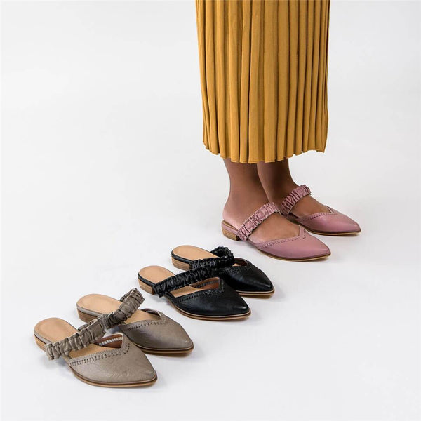 Fashion vintage   point-toe Flat shoes