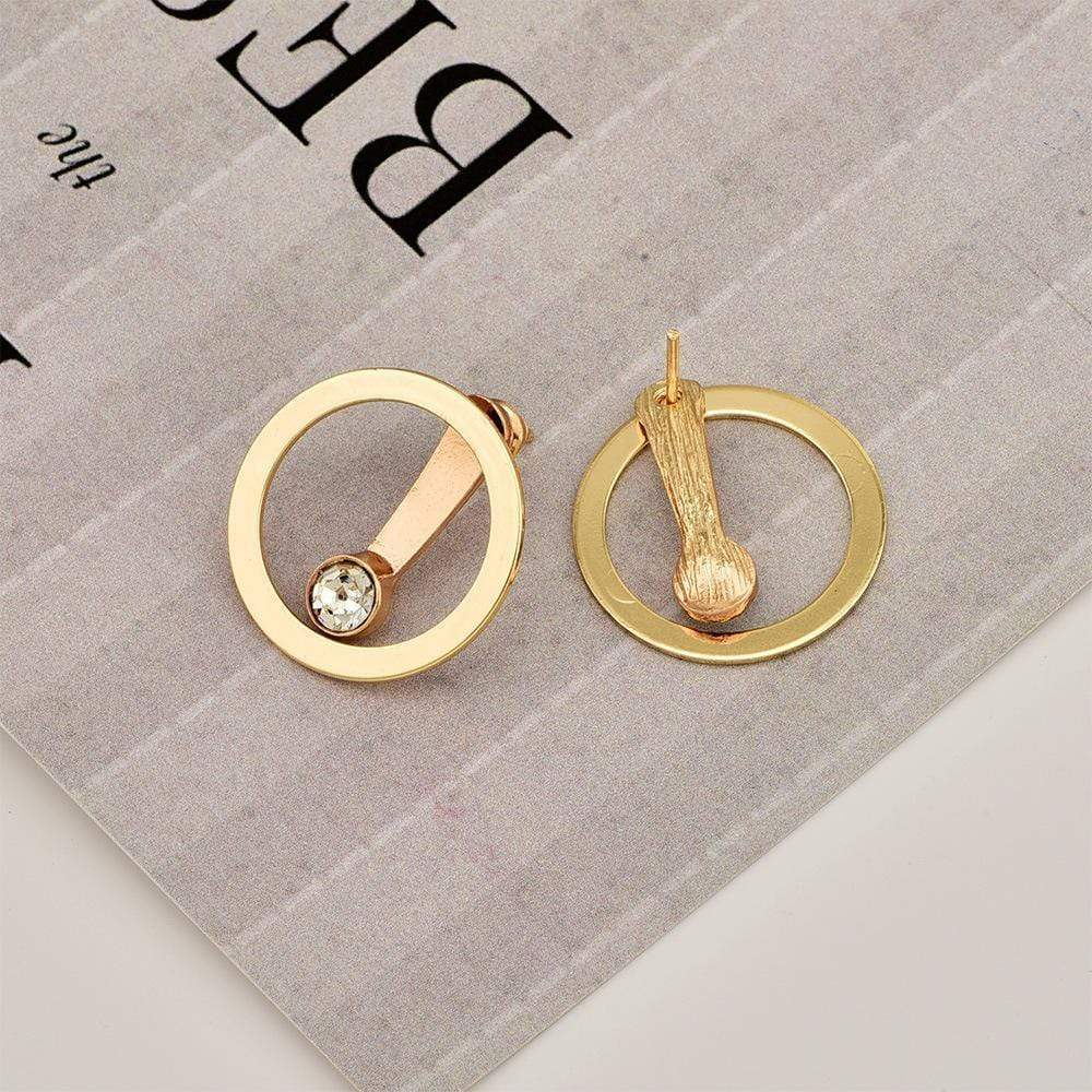 Fashion Personality New Nightclub Women's Circle Back Hanging Earrings