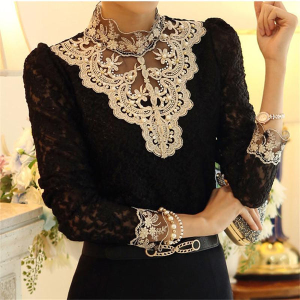 Autumn And Winter   Self-Cultivation Lace Shirt