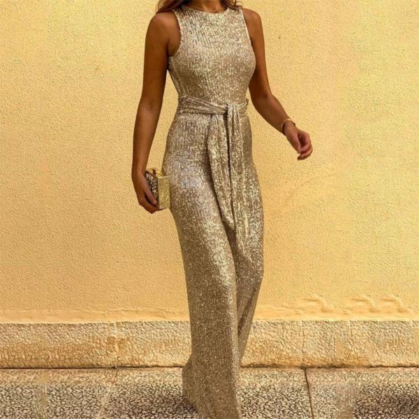 Temperament Long Sexy Backless Jumpsuit
