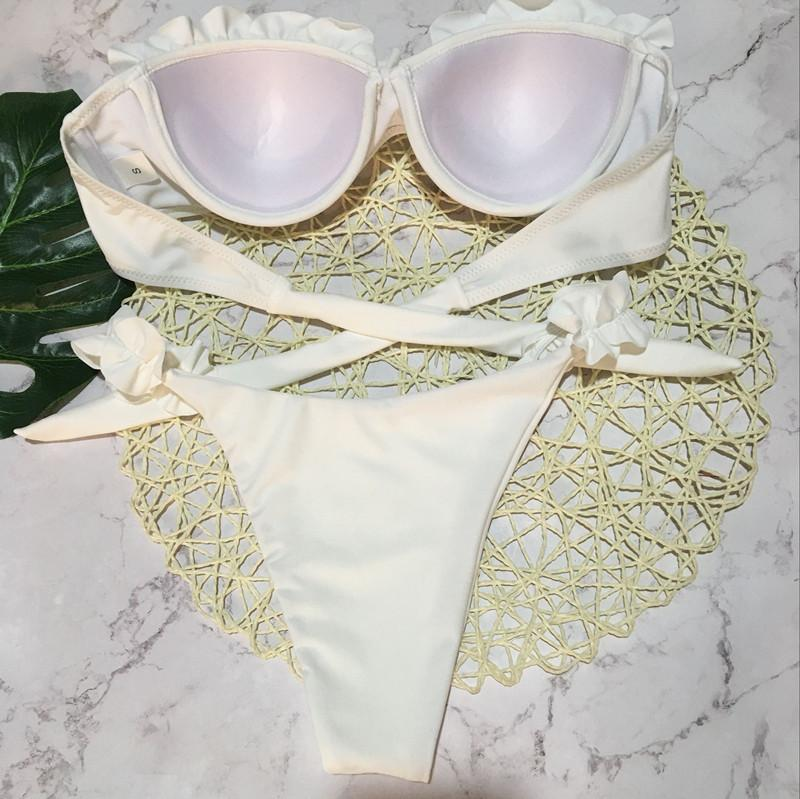 Sexy Lace Bikini Strap Split Swimsuit