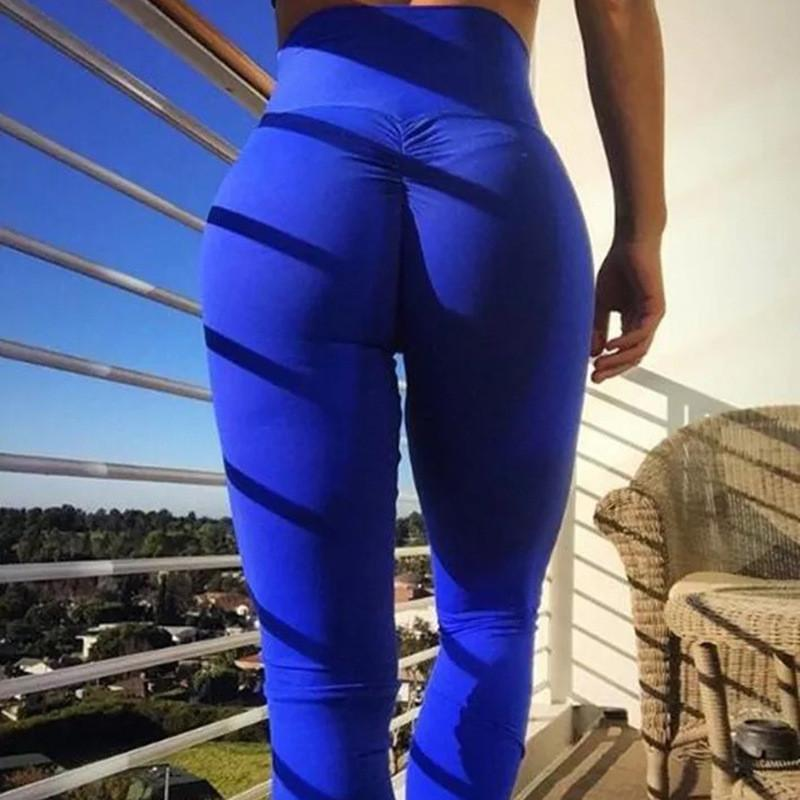 Tight Exercise Yoga Pure Color Splicing Pant