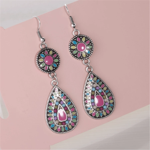 Fashion Bohemian Colorblock Earrings