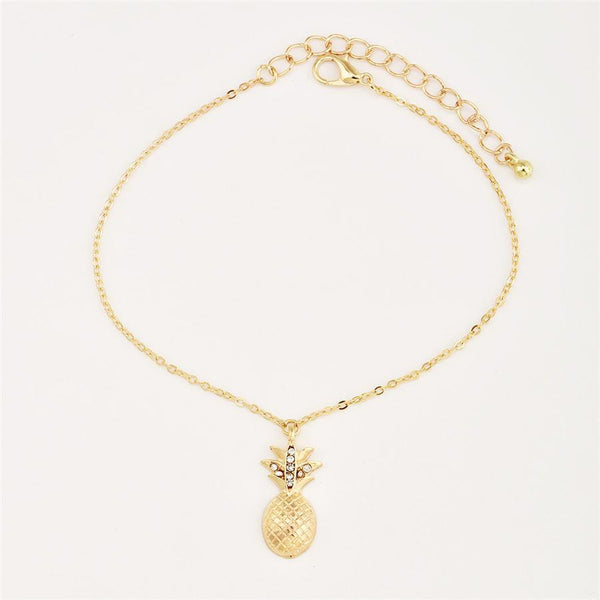 Stylish personality multi-layer pineapple anklet
