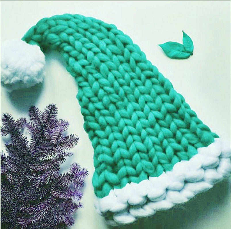 Christmas Hand-knitted Long Tail Christmas Hat