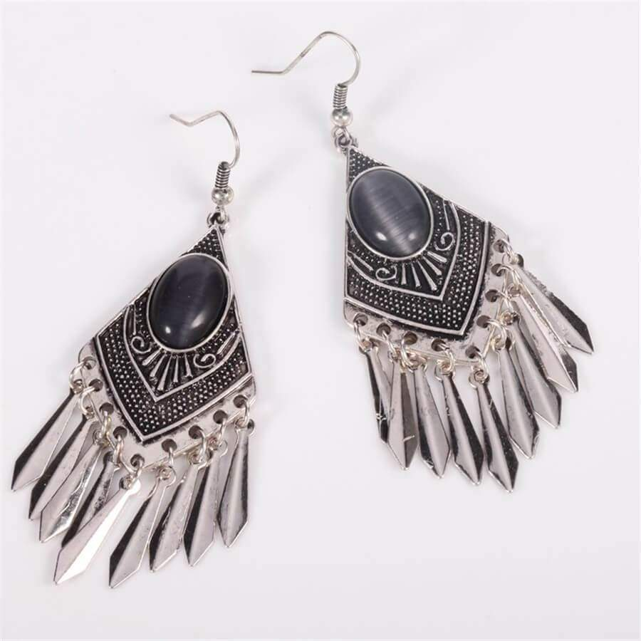 Ethnic style vintage pattern earrings