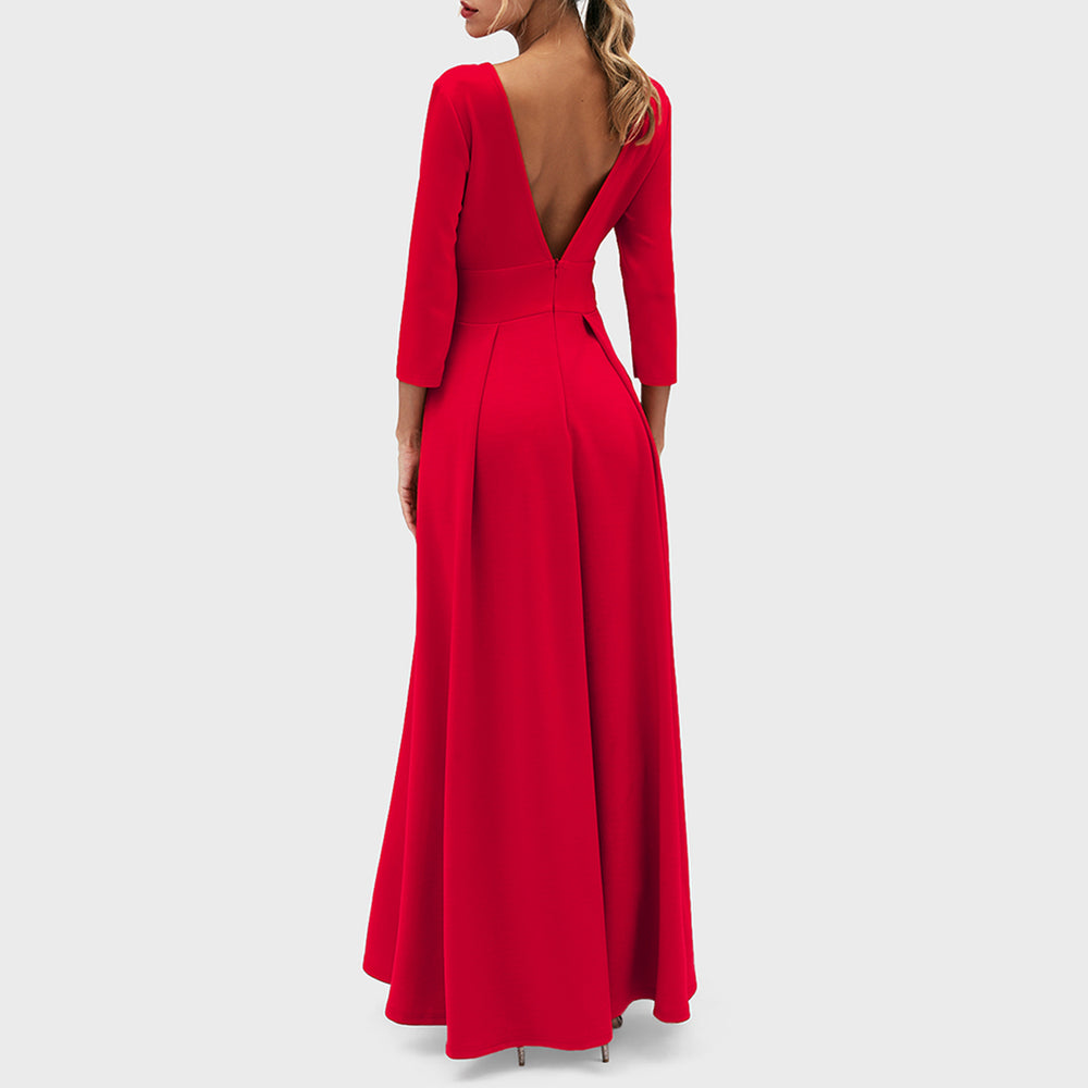 Fashion Bodycon Maxi Dress Jumpusit