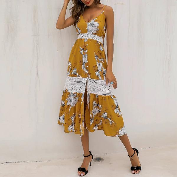 Casual Women's Floral Vacation Dress